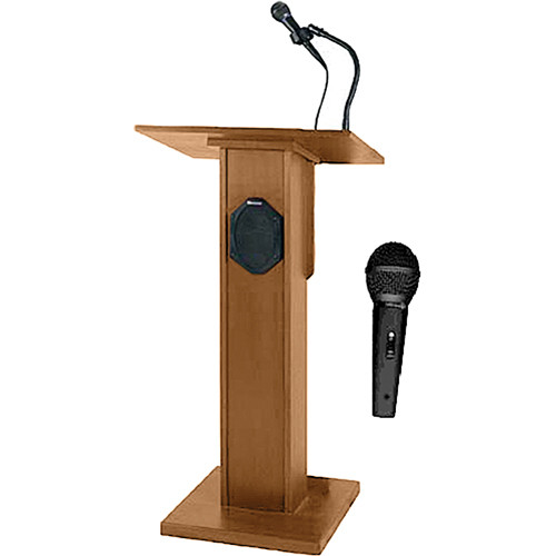 AmpliVox Sound Systems SW355 Elite Lectern (Light Oak)