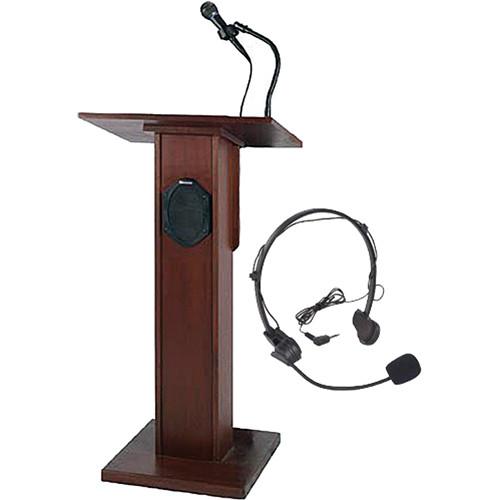 AmpliVox Sound Systems SW355 Elite Lectern (Mahogany)