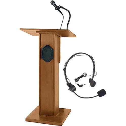 AmpliVox Sound Systems SW355 Elite Lectern (Light Oak)