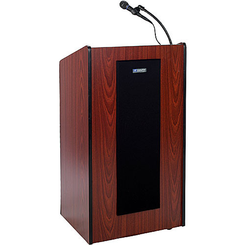 AmpliVox Sound Systems Wireless Presidential Plus Lectern System Mahogany