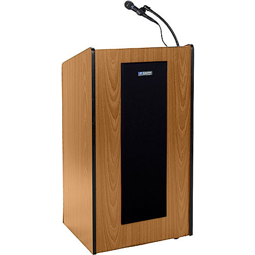 AmpliVox Sound Systems Wireless Presidential Plus Lectern System Medium Oak