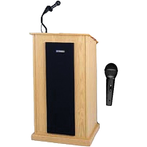 AmpliVox Sound Systems SW470 Chancellor Lectern (Natural Oak)