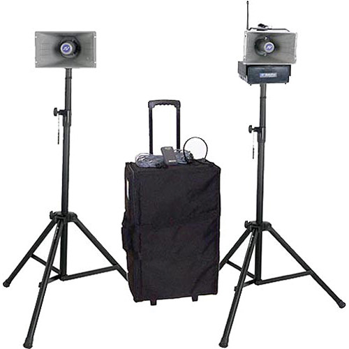 AmpliVox Sound Systems SW632 Half-Mile Hailer Portable Wireless PA Kit