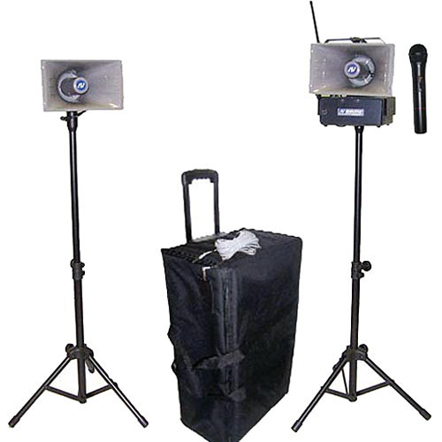 AmpliVox Sound Systems SW635 Half-Mile Hailer Portable Wireless PA Kit