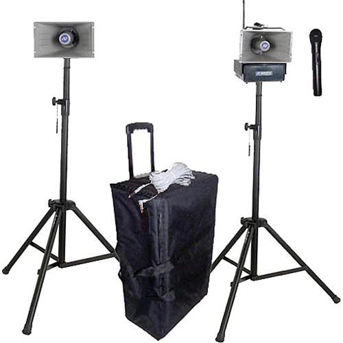 AmpliVox Sound Systems SW637 Half-Mile Hailer Portable Wireless PA Kit