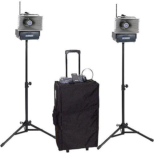 AmpliVox Sound Systems SW640 Half-Mile Hailer Portable Wireless PA Kit