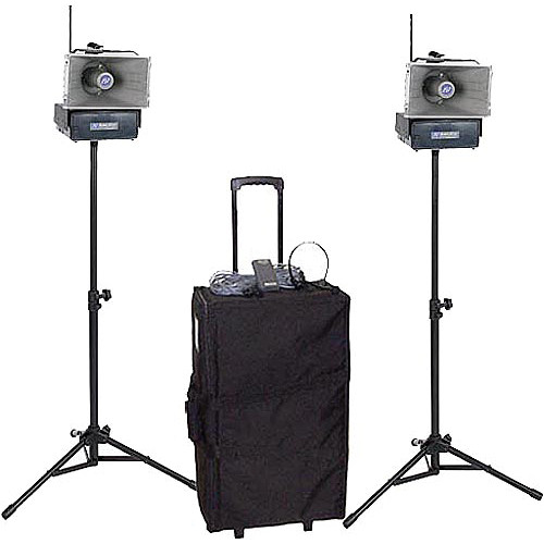 AmpliVox Sound Systems SW640 Half-Mile Hailer Portable Wireless PA Kit