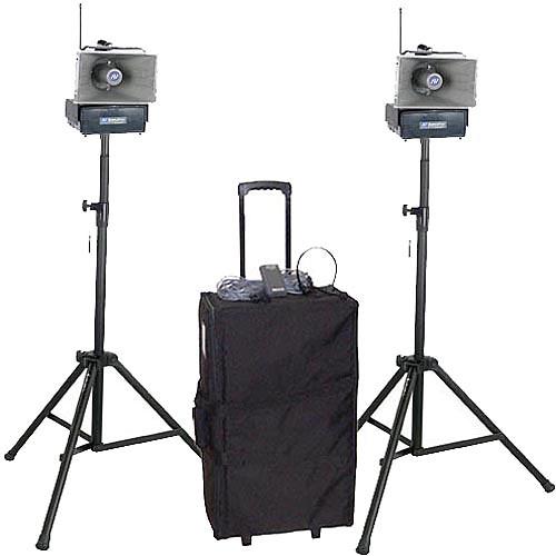 AmpliVox Sound Systems SW642 Half-Mile Hailer Portable Wireless PA Kit