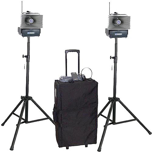 AmpliVox Sound Systems SW642 Half-Mile Hailer Portable Wireless PA Kit