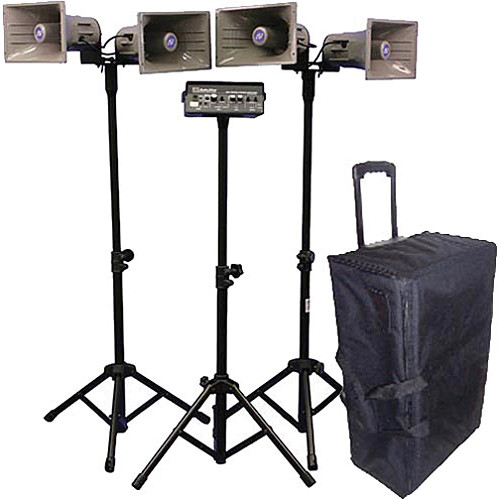 AmpliVox Sound Systems SW660 Quad Half-Mile Hailer Portable Wireless PA Kit