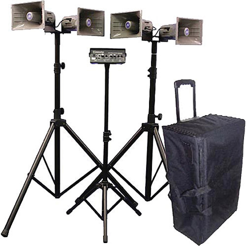 AmpliVox Sound Systems SW662 Quad Half-Mile Hailer Portable Wireless PA Kit