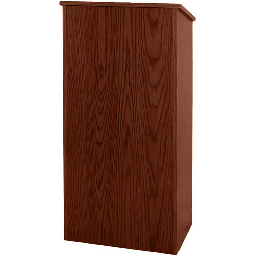 AmpliVox Sound Systems One-Piece Full Height Wood Lectern (Walnut Veneer)