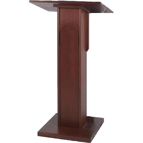 AmpliVox Sound Systems Elite Pedestal Lectern (Mahogany)