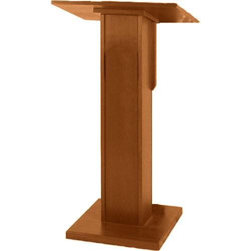 AmpliVox Sound Systems Elite Pedestal Lectern (Medium Oak)