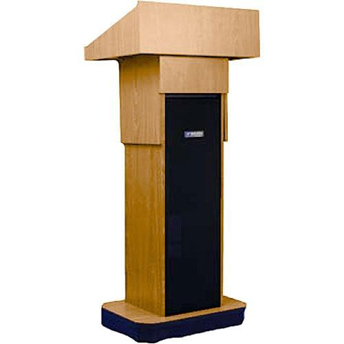 AmpliVox Sound Systems W505A Executive Adjustable Non-Sound Column Lectern (Light Oak)