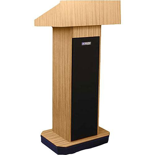 AmpliVox Sound Systems W505 Executive Non-Sound Column Lectern (Light Oak)