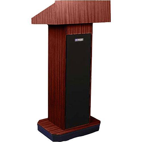 AmpliVox Sound Systems W505 Executive Non-Sound Column Lectern (Mahogany)