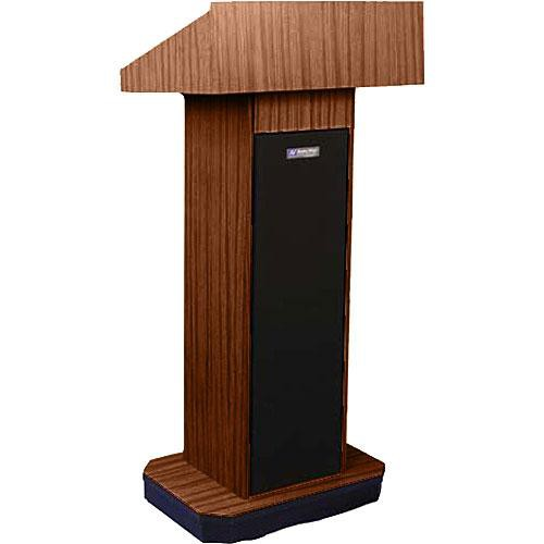 AmpliVox Sound Systems W505 Executive Non-Sound Column Lectern (Walnut)