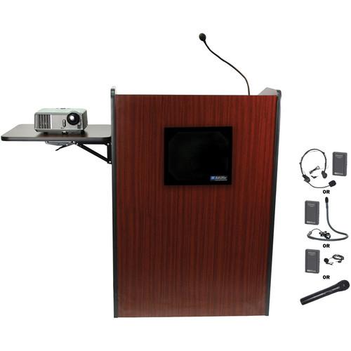 AmpliVox Sound Systems SW3235-MH Wireless Multimedia Presentation Podium (Mahogany)