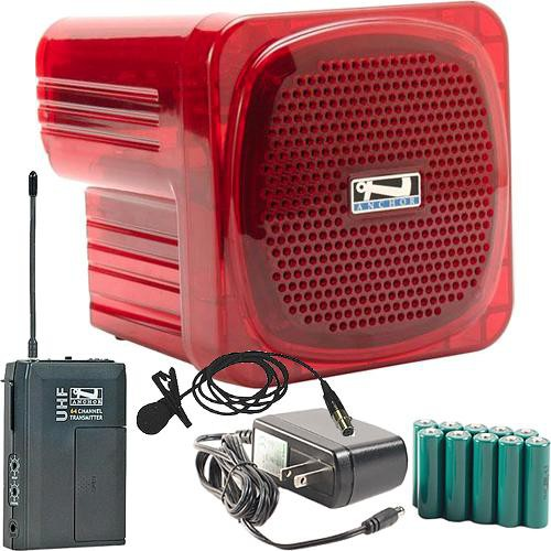 Anchor Audio AN-Mini Deluxe Package (Red) - PA w/ Wireless Lapel Mic & Recharge Kit