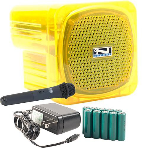 Anchor Audio AN-Mini Deluxe Package (Yellow) - PA w/ Wireless Handheld Mic & Recharge Kit
