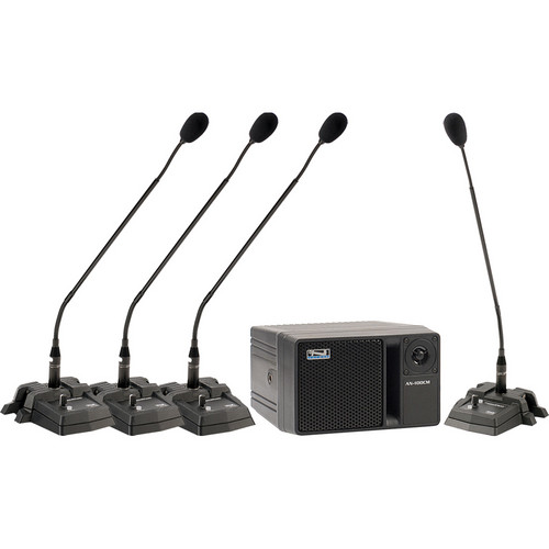 Anchor Audio Councilman CM-4W Conference Microphone Package with Wireless Mic