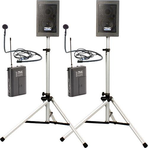 Anchor Audio EDP7500 CM-60 2  Explorer Pro Delxue Package with CM-60 Collar Microphone x 2