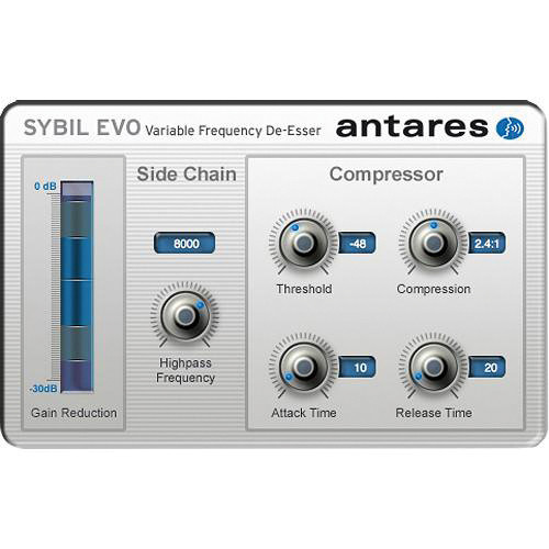 Antares Audio Technologies SYBIL Evo - Variable Frequency De-Esser (Download)