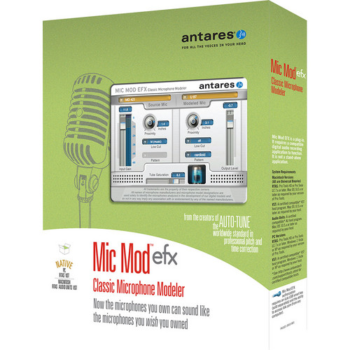Antares Audio Technologies Mic Mod EFX - Microphone Modeling Plug-In