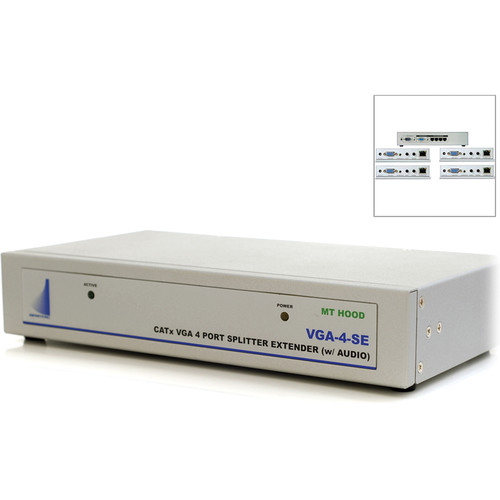 Apantac 4-Port VGA Splitter / Extender with Audio