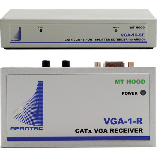 Apantac VGA-16-SE VGA Extender/Splitter with Audio & Monitor Output (16 Port)