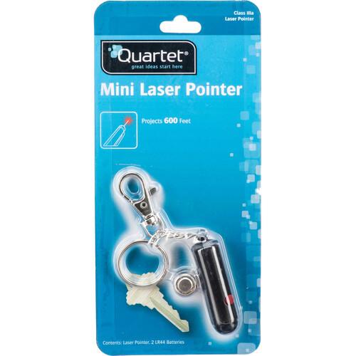Quartet Mini Keychain Red Laser Pointer (Black)