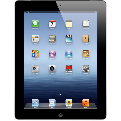 Apple 64GB iPad with Wi-Fi + 4G LTE (3rd Gen, Verizon, Black)