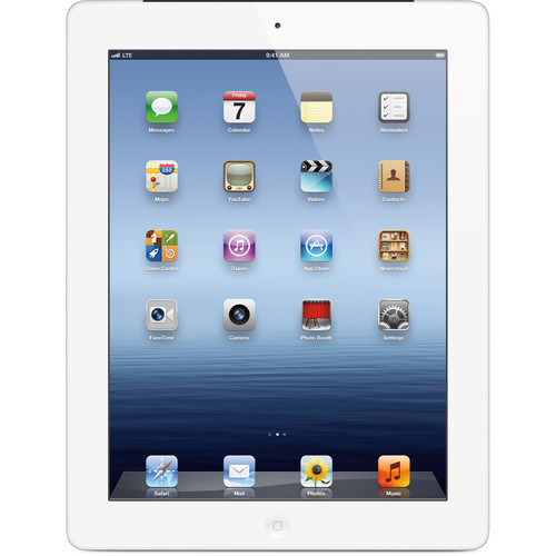 Apple 64GB iPad with Wi-Fi + 4G LTE (3rd Gen, Verizon, White)