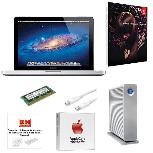 """B&H Photo Apple MacBook Pro Turnkey System with an Apple 15.4"""" MacBook Pro and Adobe Premiere Pro CS6"""