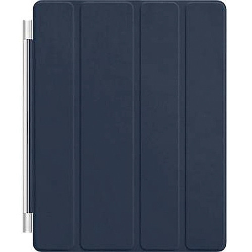 Apple iPad Smart Cover for the iPad 2 and new iPad (Leather, Navy)