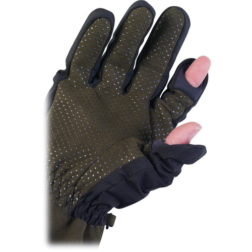 AquaTech Sensory Gloves (Large, Black/Moss)