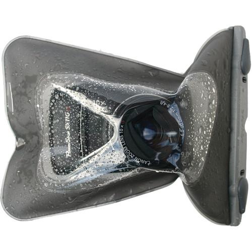 "Aquapac Small Compact Camera Case (10.2"" Circumference, Cool Gray)"