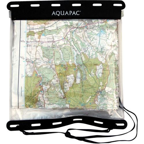 """Aquapac Kaituna Map Case (12 x 12"""", Clear with Black Border)"""