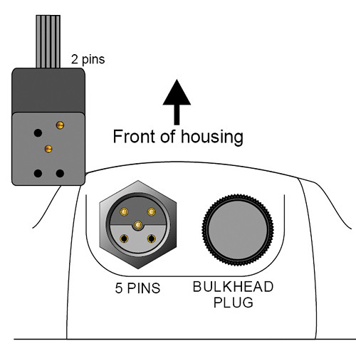 Aquatica Manual Bulkhead Connector with Nikon Hot Shoe