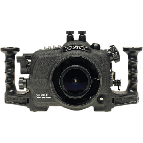 Aquatica Underwater Housing w/ Double Nikonos Bulkheads for Canon 5D Mark II