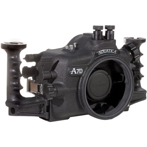 Aquatica Underwater Housing w/ Double Nikonos Bulkheads for Canon 7D