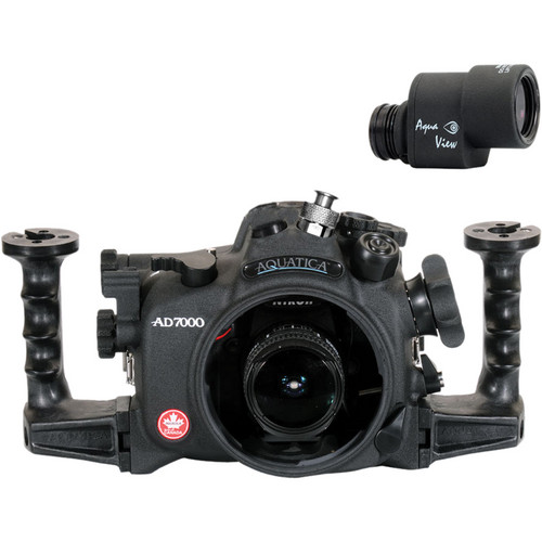 Aquatica AD7000 Underwater Housing for Nikon D7000 with Ikelite Manual Bulkhead & Aqua View Finder