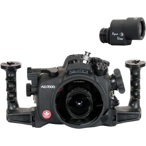 Aquatica AD7000 Underwater Housing for Nikon D7000 with Ikelite Manual Bulkhead & Aqua View Finder