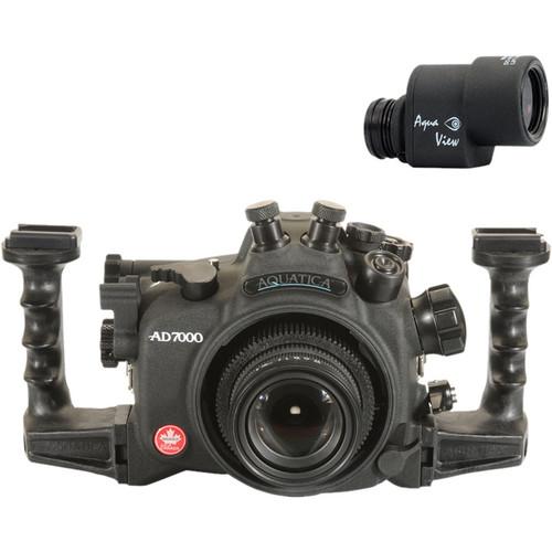 Aquatica AD7000 Underwater Housing for Nikon D7000 with Dual Nikonos Bulkheads & Aqua View Finder