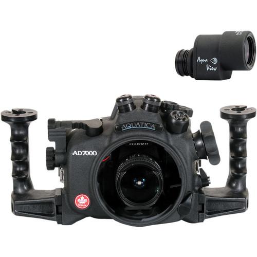 Aquatica AD7000 Underwater Housing for Nikon D7000 with Dual Optical Fiber Ports & Aqua View Finder