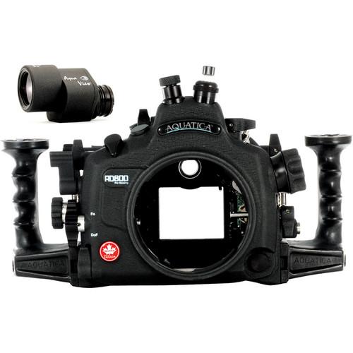 Aquatica AD800 Underwater Housing for Nikon D800 or D800E with Aqua VF (Nikonos and Optical Strobe Connectors)