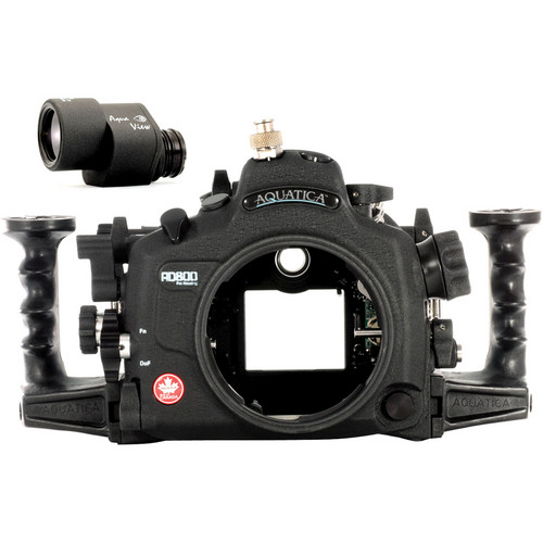 Aquatica AD800 Underwater Housing for Nikon D800 or D800E with Aqua VF (Ikelite TTL Strobe Connector)