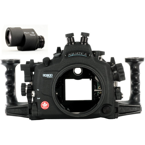 Aquatica AD800 Underwater Housing for Nikon D800 or D800E with Aqua VF (Dual Nikonos Strobe Connectors)