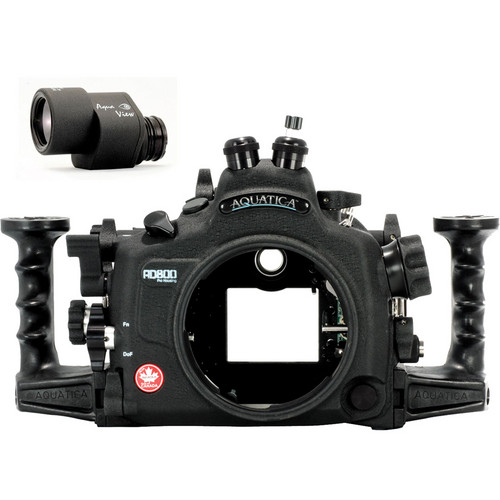 Aquatica AD800 Underwater Housing for Nikon D800 or D800E with Aqua VF (Dual Fiber-Optic Strobe Connectors)